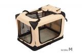 Béžová látková prepravka pre psa - kennel