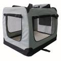 Svetle sivá látková prepravka pre psa - kennel L 82x58x58 cm