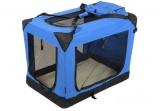Modrá látková prepravka pre psa - kennel XL 90x61x65 cm
