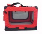 Červená látková prepravka pre psa - kennel S 60x42x44 cm