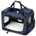 Modrá látková prepravka pre psa - kennel S 60x40x40 cm