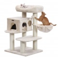 Variabilné škrabadlo pre mačky Roxana béžové  112 cm