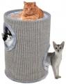Škrabací obytný valec pre mačky Camelie S šedé 50 cm
