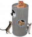 Škrabací obytný valec pre mačky Camelie šedé 70 cm