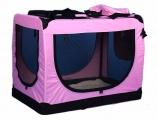 Ružová  prepravka pre psa - kennel XL 90x61x65 cm